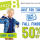 50% Off Fall Finds at Crazy 8!