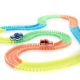 Bend A Path 13′ Glow-in-the-Dark Track with 2 Light-Up SUVs and Carry Bag – $20